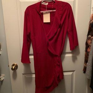 NWT Red Wrap Dress